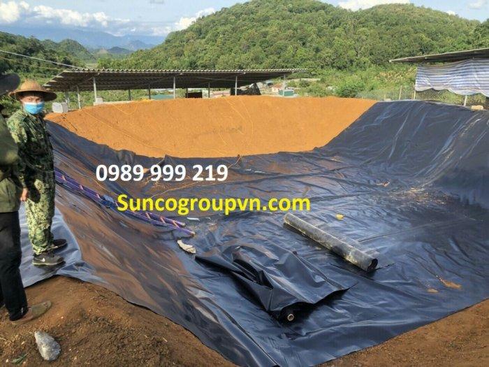 Bạt hdpe 0.75mm cuộn 200m2,250m2 khổ 4x50m;5x50m lót bãi rác,hố biogas 20213