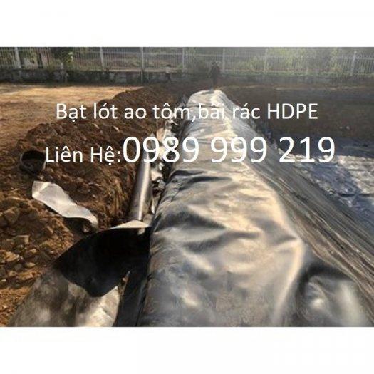 Bạt hdpe 0.75mm cuộn 200m2,250m2 khổ 4x50m;5x50m lót bãi rác,hố biogas 20212