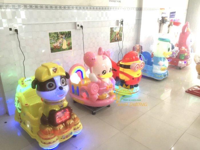 Thú nhún điện nhập khẩu trẻ em cho khu vui chơi, công viên, quán cà phê5
