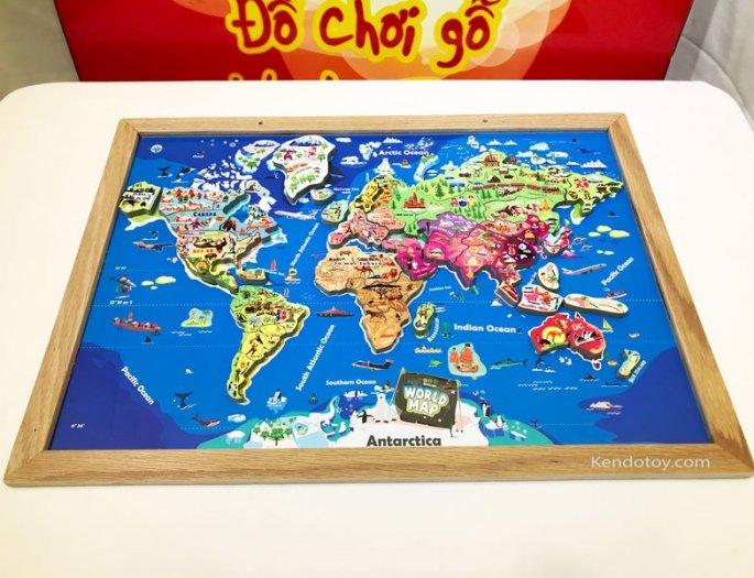 Tranh ghép bản đồ thế giới lắp ráp bằng gỗ | Wooden world map puzzle6