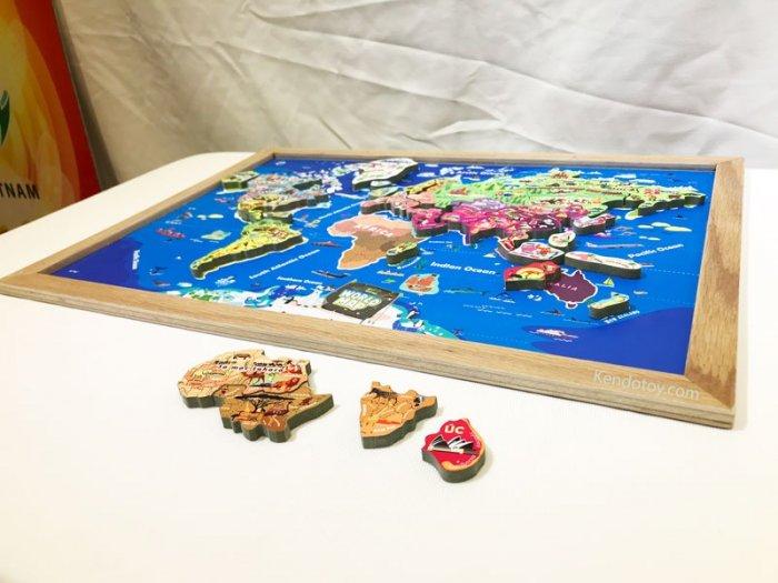 Tranh ghép bản đồ thế giới lắp ráp bằng gỗ | Wooden world map puzzle5