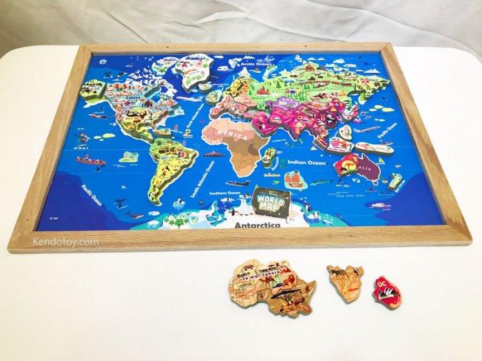 Tranh ghép bản đồ thế giới lắp ráp bằng gỗ | Wooden world map puzzle4