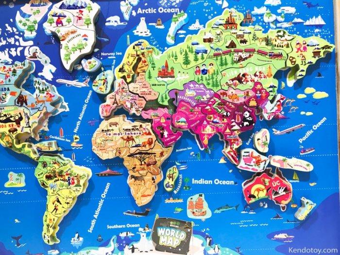 Tranh ghép bản đồ thế giới lắp ráp bằng gỗ | Wooden world map puzzle3