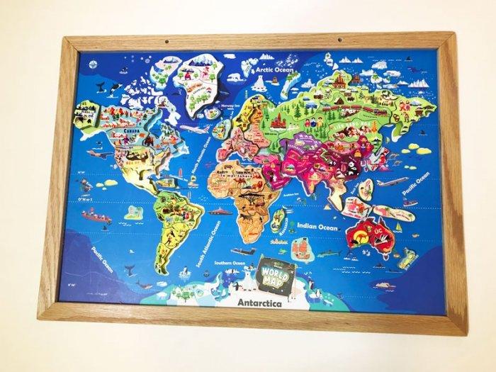 Tranh ghép bản đồ thế giới lắp ráp bằng gỗ | Wooden world map puzzle0