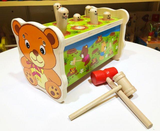 Trò chơi búa đập chuột đồ chơi gỗ vận động
