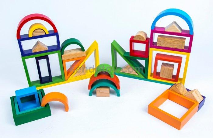 Bộ cầu vòng | Xây dựng xếp hình khối 3D Xuất Khẩu2
