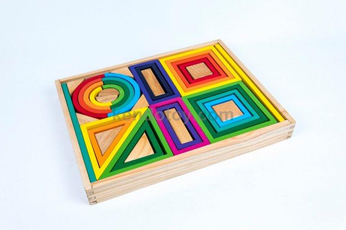 Bộ cầu vòng | Xây dựng xếp hình khối 3D Xuất Khẩu0
