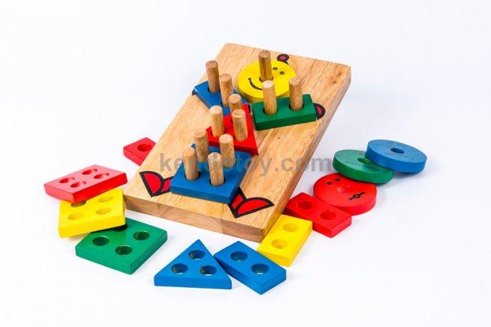 Lắp ráp hình học cho bé vui chơi an toàn3