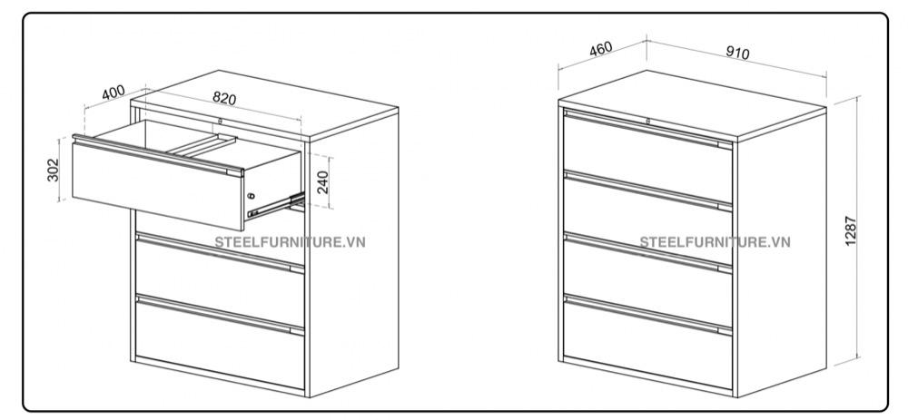 Tủ hồ sơ file treo, tủ bìa treo - Steel Design Vn0