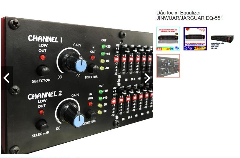 Lọc nhạc Jarguar EQ-551 hàng chính hãng Việt Nam sản xuất0