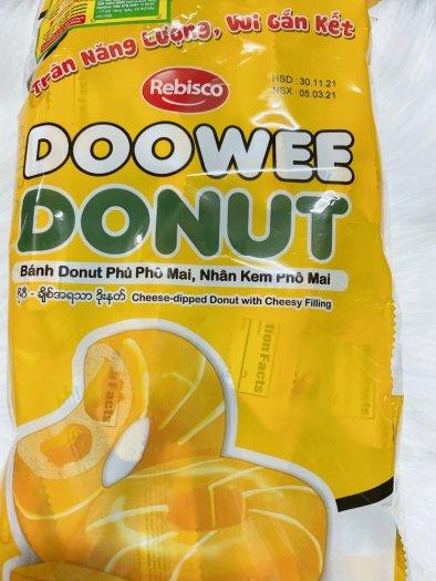 Bánh donut phủ phô mai, nhân kem phô mai0