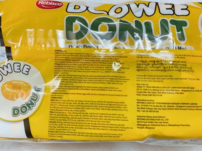 Bánh donut phủ phô mai, nhân kem phô mai3