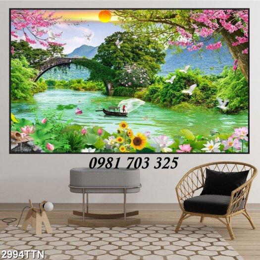 Gạch tranh phong cảnh, tranh đẹp trang trí phòng3
