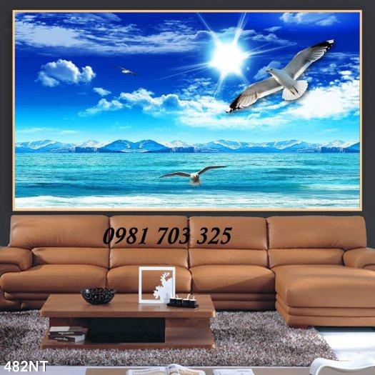 Gạch tranh phong cảnh, tranh 3D cảnh biển đẹp6