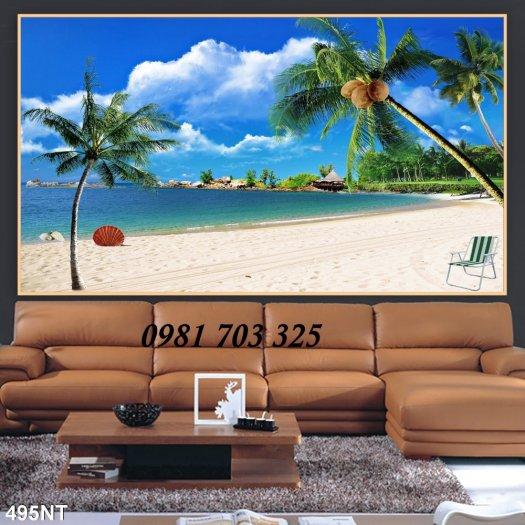 Gạch tranh phong cảnh, tranh 3D cảnh biển đẹp5