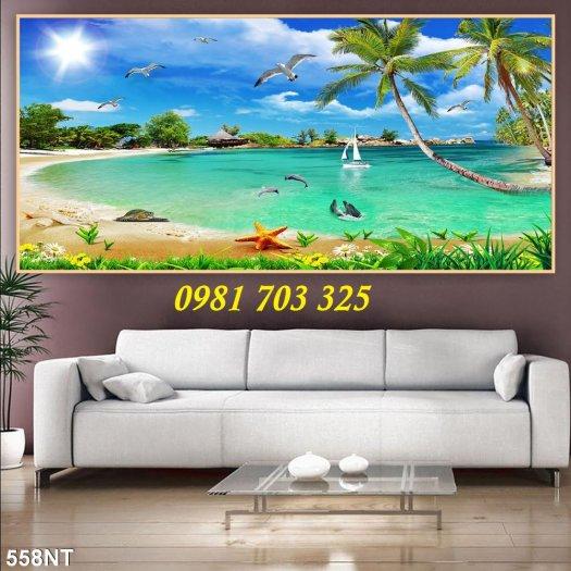 Gạch tranh phong cảnh, tranh 3D cảnh biển đẹp4