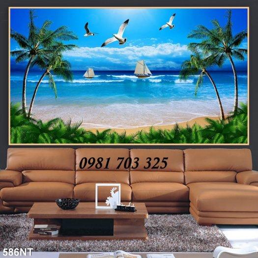 Gạch tranh phong cảnh, tranh 3D cảnh biển đẹp2
