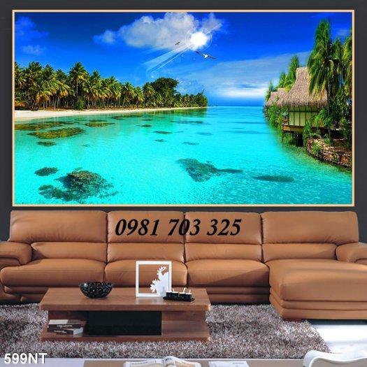 Gạch tranh phong cảnh, tranh 3D cảnh biển đẹp0