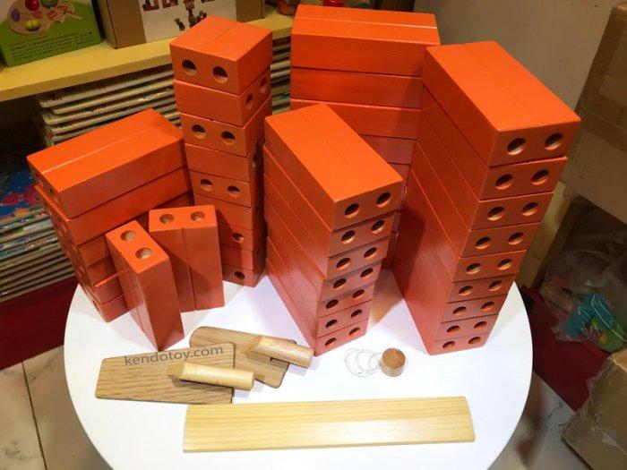 Gạch gỗ xây dựng mầm non cho bé kích thước lớn4