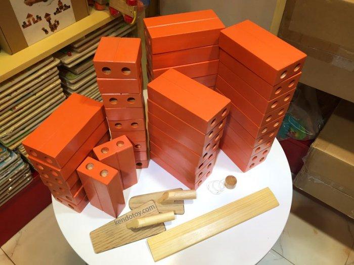 Gạch gỗ xây dựng mầm non cho bé kích thước lớn3