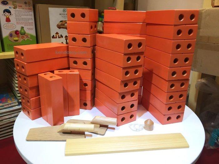 Gạch gỗ xây dựng mầm non cho bé kích thước lớn2