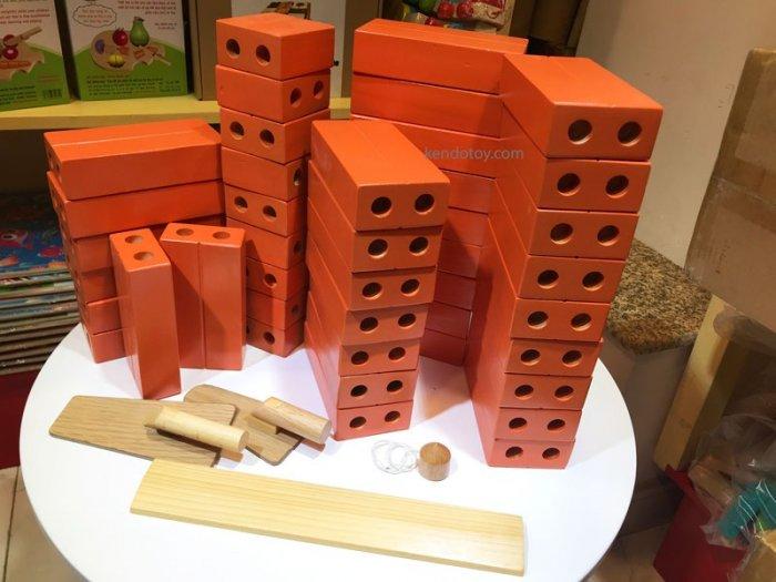 Gạch gỗ xây dựng mầm non cho bé kích thước lớn1