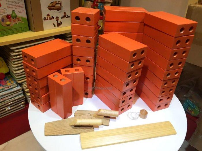 Gạch gỗ xây dựng mầm non cho bé kích thước lớn0
