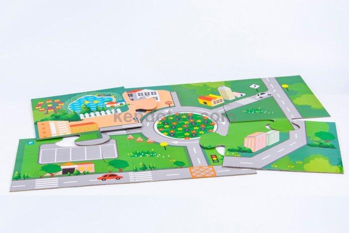 Đồ chơi gỗ mô hình thành phố tương lai nhập vai sáng tạo1