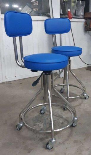 Ghế inox 304 có bọc nệm mặt ghế và tựa lưng0