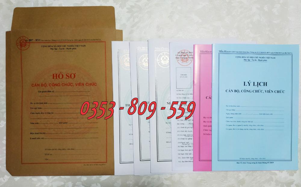 Cung cấp Hồ sơ cán bộ công chức viên chức mẫu b07/bnv tt07/2019 giá sỉ, rẻ0