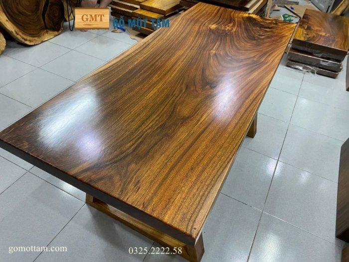 Bàn ăn gỗ me tây, bàn làm việc gỗ me tây nguyên tấm dài 1,65 x 70 x 56