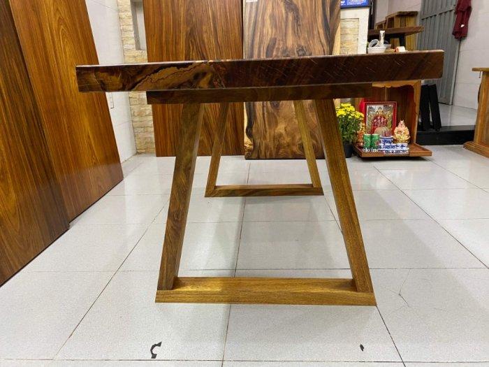 Bàn ăn gỗ me tây, bàn làm việc gỗ me tây nguyên tấm dài 1,65 x 70 x 52