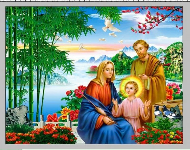 Tranh 3D - tranh gạch công giáo đẹp2