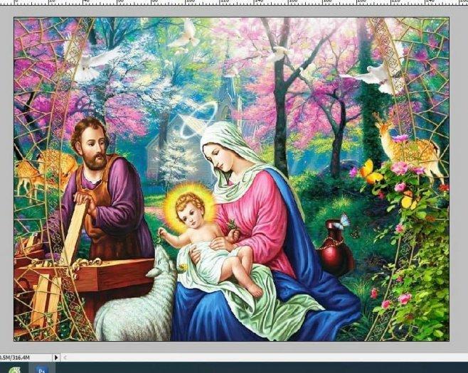 Tranh 3D - tranh gạch công giáo đẹp1