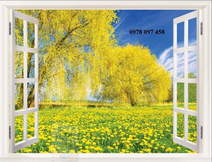 Tranh 3D - tranh khung cửa sổ3