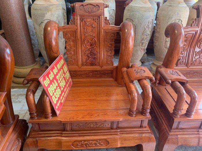 Bộ Bàn ghế tần thuỷ hoàng cột liền yếm liền gỗ hương đá13