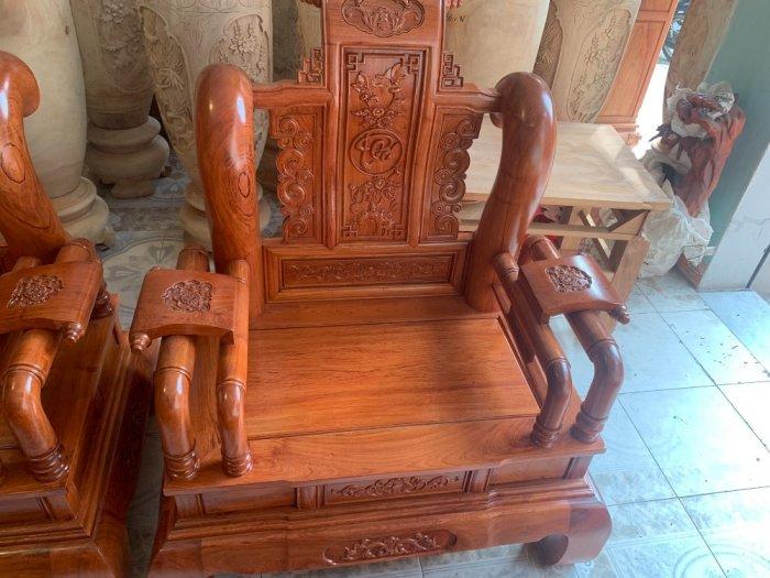 Bộ Bàn ghế tần thuỷ hoàng cột liền yếm liền gỗ hương đá9