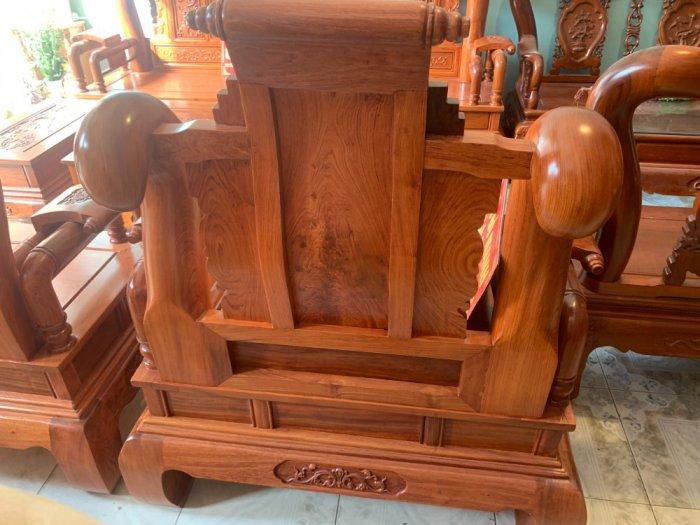 Bộ Bàn ghế tần thuỷ hoàng cột liền yếm liền gỗ hương đá7