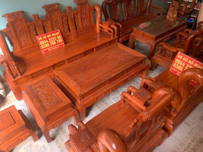 Bộ Bàn ghế tần thuỷ hoàng cột liền yếm liền gỗ hương đá4