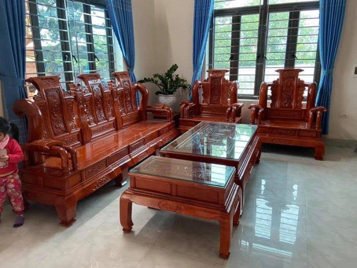 Bộ Bàn ghế tần thuỷ hoàng cột liền yếm liền gỗ hương đá3