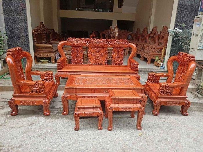 Bộ bàn ghế minh quốc voi ma mút gỗ hương đá siêu víp19