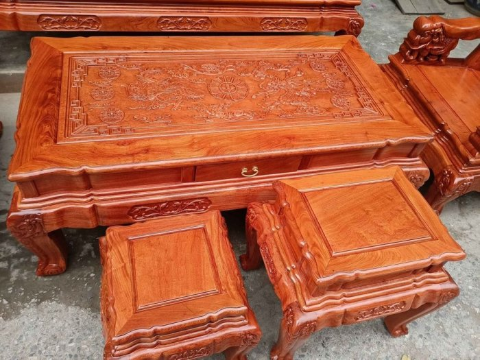 Bộ bàn ghế minh quốc voi ma mút gỗ hương đá siêu víp17