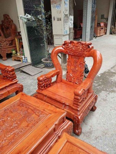 Bộ bàn ghế minh quốc voi ma mút gỗ hương đá siêu víp16