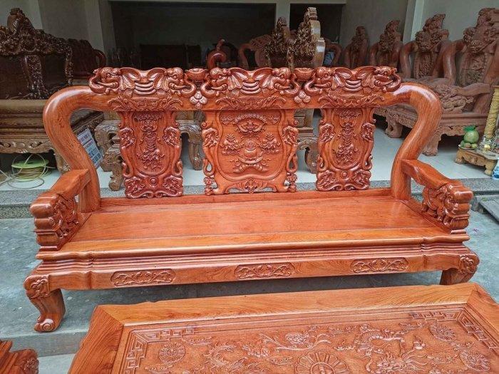 Bộ bàn ghế minh quốc voi ma mút gỗ hương đá siêu víp15