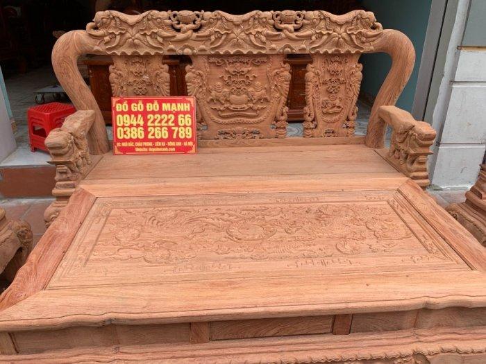 Bộ bàn ghế minh quốc voi ma mút gỗ hương đá siêu víp14