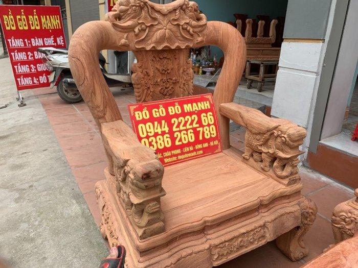 Bộ bàn ghế minh quốc voi ma mút gỗ hương đá siêu víp13