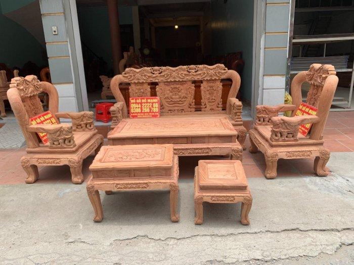 Bộ bàn ghế minh quốc voi ma mút gỗ hương đá siêu víp11