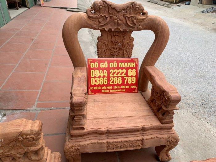 Bộ bàn ghế minh quốc voi ma mút gỗ hương đá siêu víp10