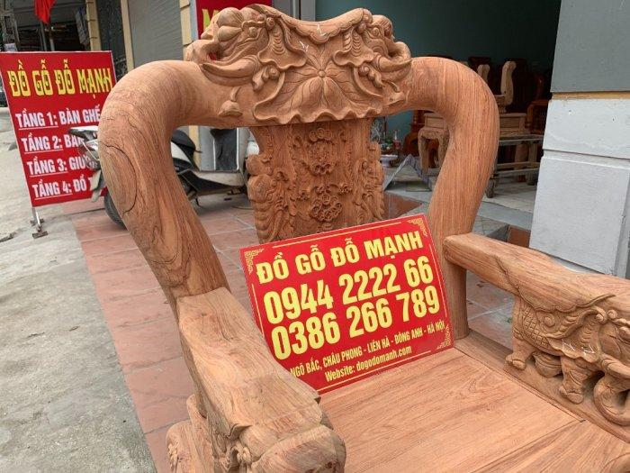 Bộ bàn ghế minh quốc voi ma mút gỗ hương đá siêu víp9