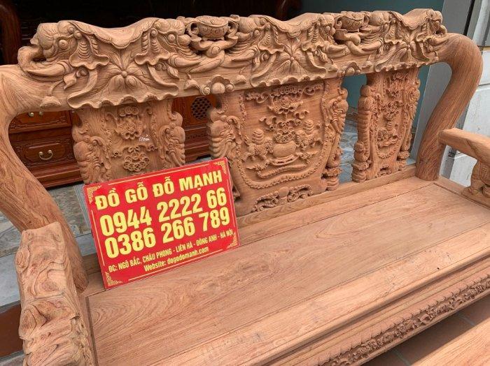 Bộ bàn ghế minh quốc voi ma mút gỗ hương đá siêu víp8